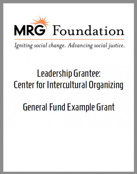 Example Leadership Grant Proposal