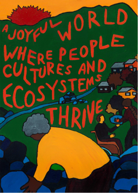 MRG's Vision Poster: A joyful world where people cultures and ecosystems thrive