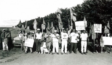 Organizers rally for PCUN in 1987