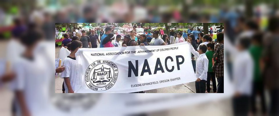 Eugene Springfield NAACP students participate in a rally
