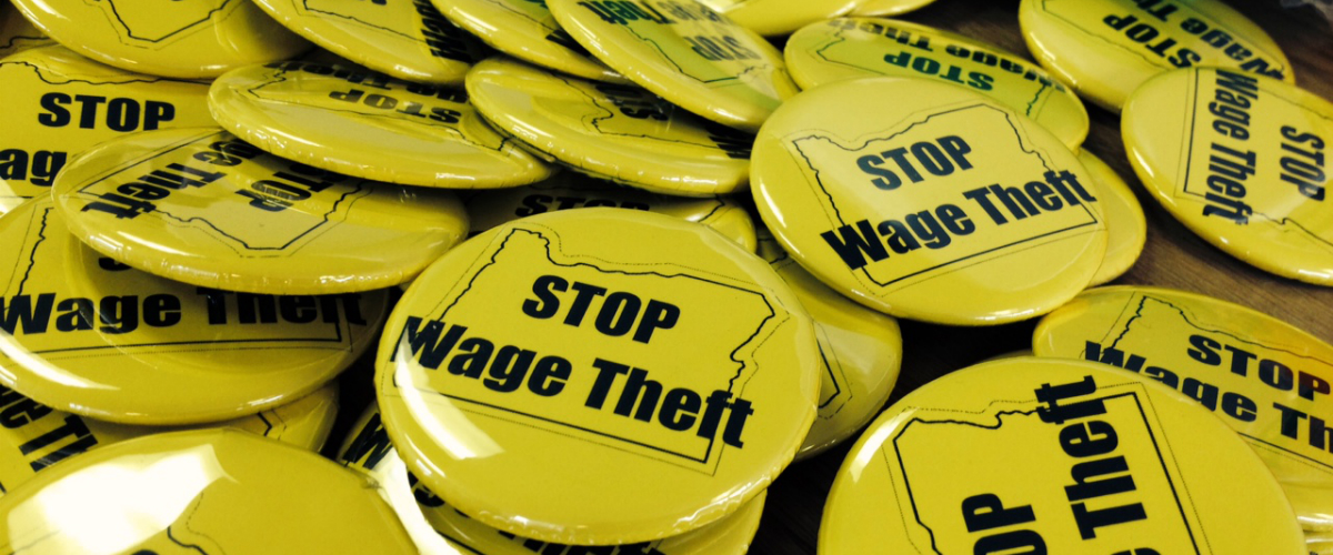 Stop Wage Theft buttons
