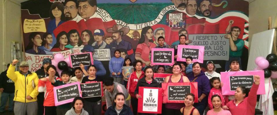 A groups of Pineros y Campesinos Unidos del Noroeste (PCUN) members