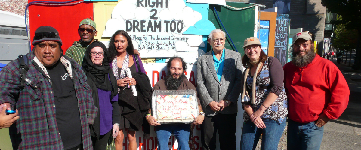 Right 2 Dream Too members gathered