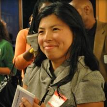 Shizuko Hashimoto smiles at the camera