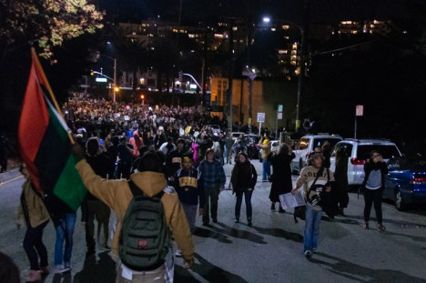 Oakland protest in solidarity with Ferguson