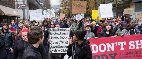 Portland protesters follow the lead of a Black organizer