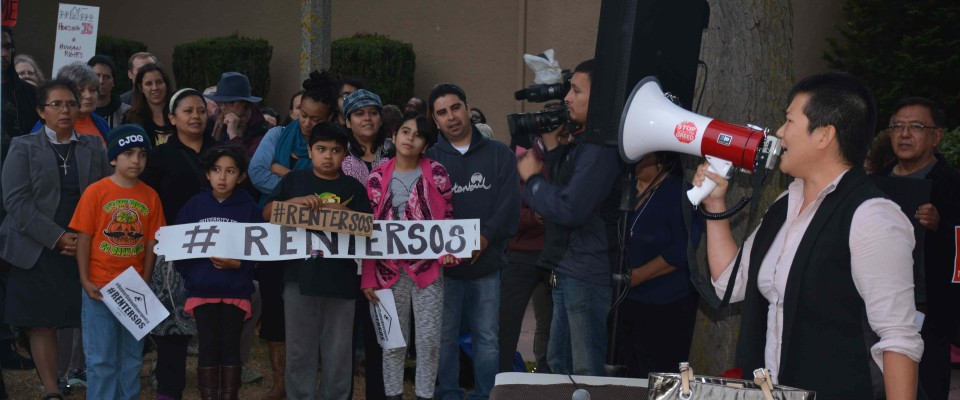Community Alliance of Tenants rally.