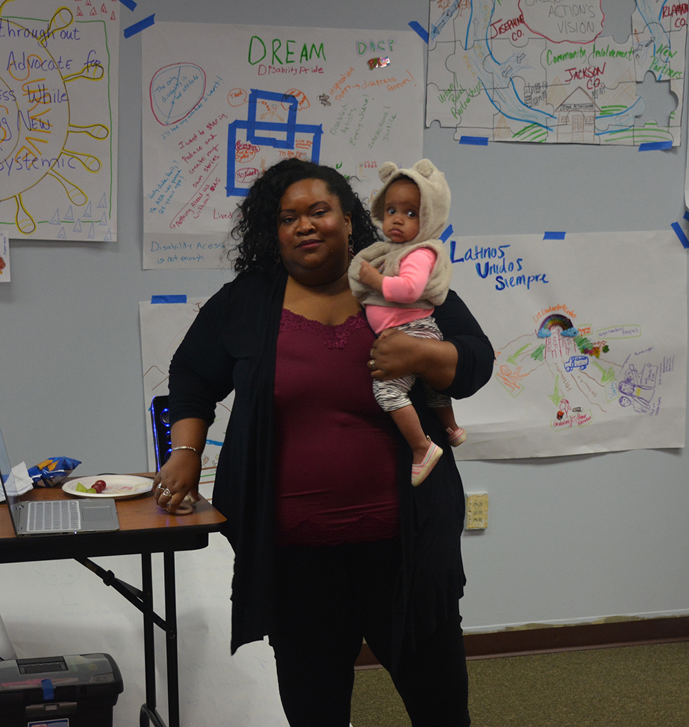 Sirius Bonner with her daughter at the CBI launch celebration.