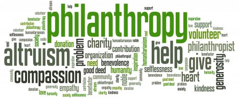 word cloud philanthropy