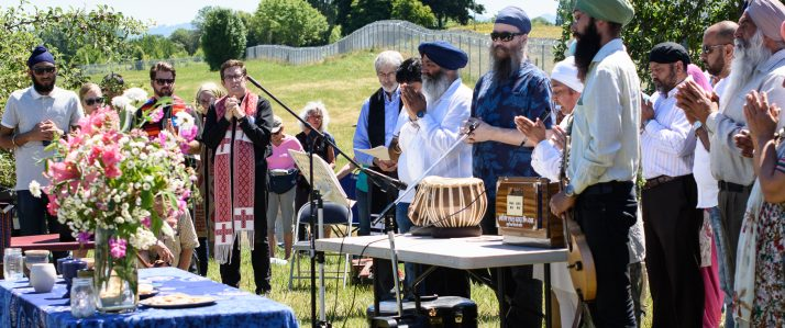 interfaith service being led by Sikh faith leaders